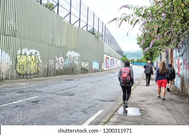The peace lines or peace walls are a series of separation barriers in Northern Ireland that separate catholics and protestants