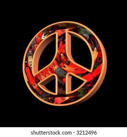 Peace & love symbol illustration