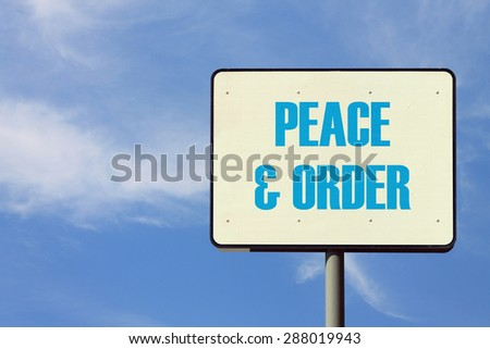 what is peace and order