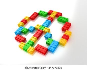 PEACE SIGN in Blocks