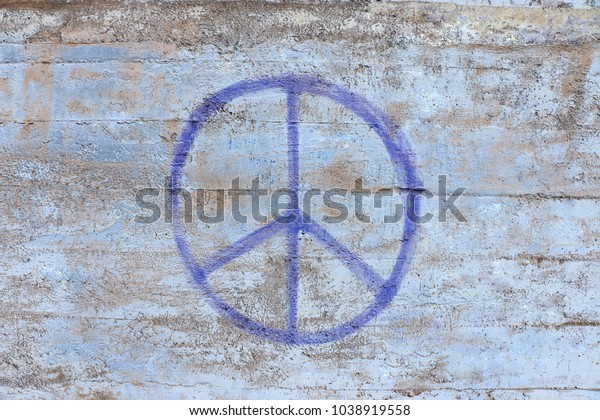 Peace Sign Graffity Spray Paint On Stock Photo Edit Now