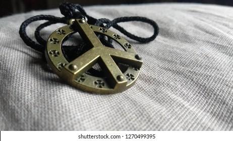 peace sign locket