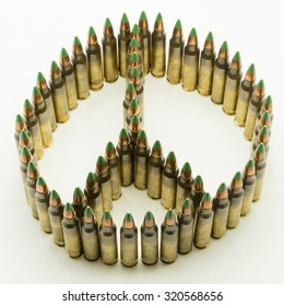Peace Sign mad with Bullets