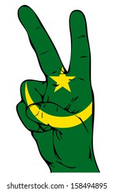 Peace Sign of the Moorish flag