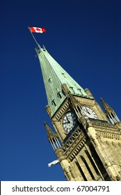 The Peace Tower On Parliament Hill, Ottawa, Ontario, Canada