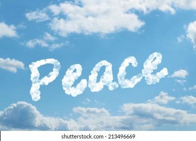 peace word on cloud