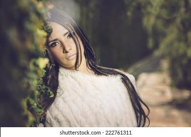Peaceful beautiful girl