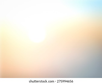 Peaceful concept: Abstract white sun light and blurred beautiful yellow nature background