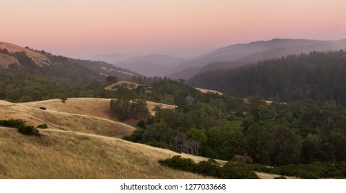 Peaceful Dusk in this Hills and Mountains of Central California