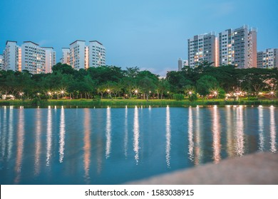 A peaceful evening in Punggol Park
