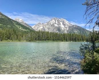 Peaceful Glacial Lake in Grand Teton National Park, Wyoming