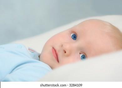 Peaceful little boy