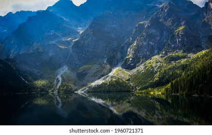 Peaceful morning with the Morskie Oko, Poland - Shutterstock ID 1960721371