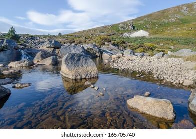 Peaceful mountain river in Ireland