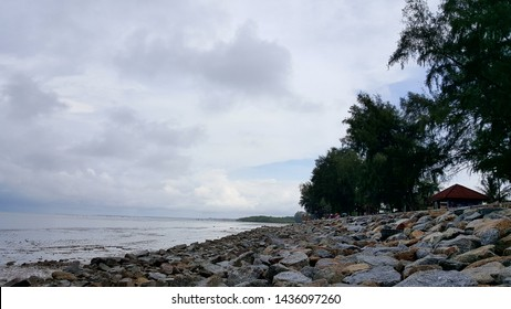 Peaceful offshore scenery view at Morib, Banting, Malaysia