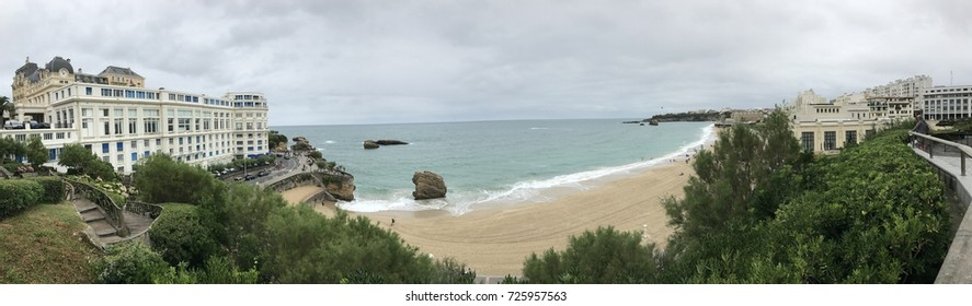 Peaceful panoramic shot from Biarritz, Southwest France