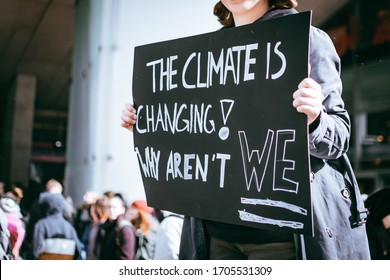 A peaceful protest against the global warming in Austria in capital city Vienna