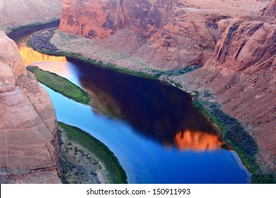 peaceful river in the canyon