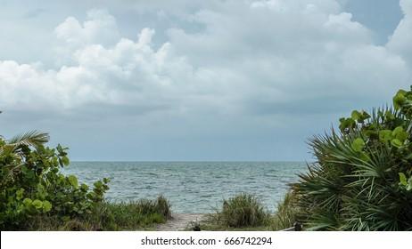 peaceful spot on the beach