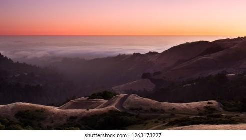 Peaceful Sunset over Central California Coastline