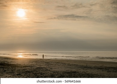 A peaceful walk at sunrise in Hilton Head Island South Carolina
