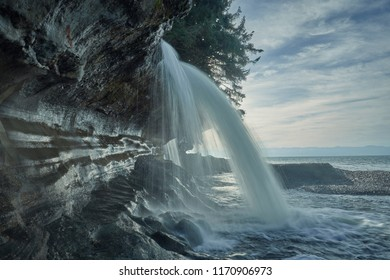 Peaceful waterfalls in motion