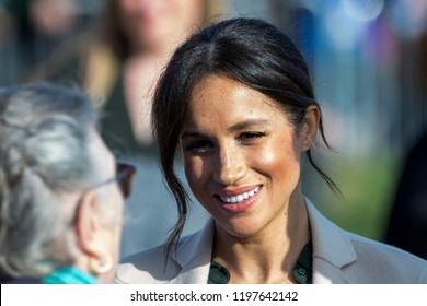 Peacehaven, East Sussex, UK. 3rd October 2018.  Prince Harry and Meghan Markle make their first official visit to the counties of West and East Sussex