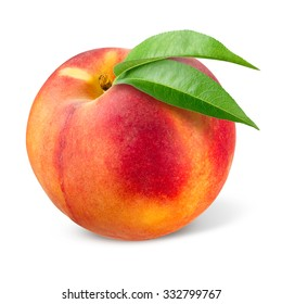 Peach. Fruit isolated on white.