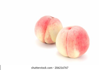 The Peach Fruit on the white background.