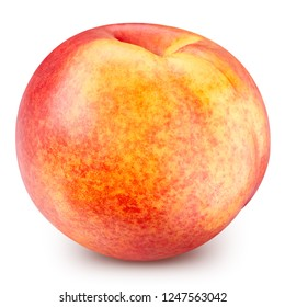Peach fruits isolated on white background. Peach Clipping Path