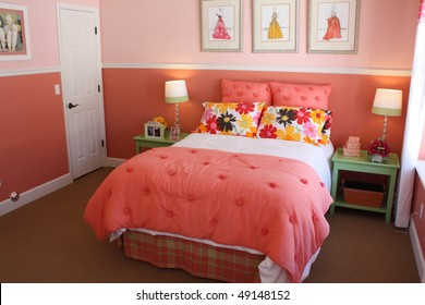 Peach Guest Bedroom