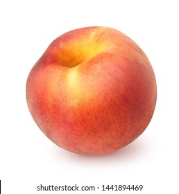 Peach isolated on white background, with clipping path