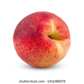 Peach isolated on white. Full depth of field
