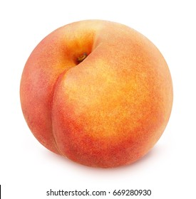 Peach isolated on white. Full depth of field.