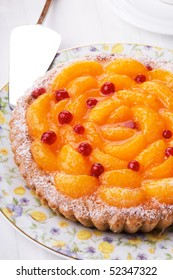 peach pie with sour berries