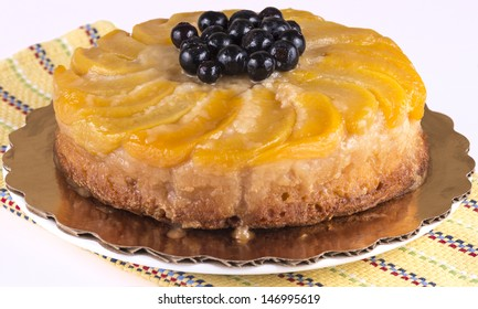 a peach upside down cake