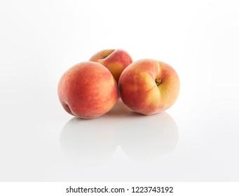 Peach, white, isolated