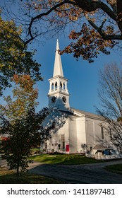 Peacham Congregational Church.  It is the Olde Meeting House in the Village, Peacham, VT