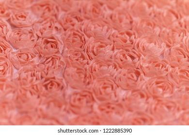 Peach-colored roses material - macro photo