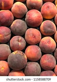 peaches harvest close up
