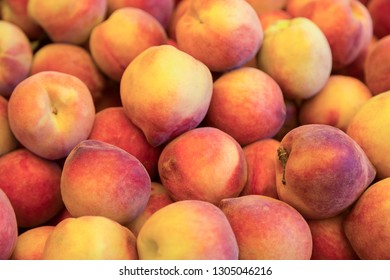 peaches on the counter in the store