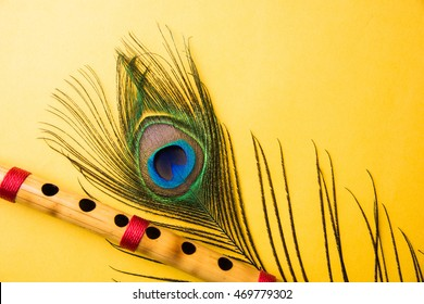 peacock feather bamboo flute over 260nw 469779302