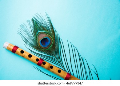 peacock feather bamboo flute over 260nw 469779347