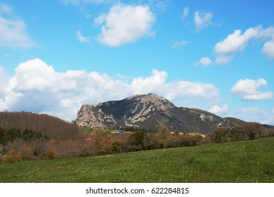 Peak of Bugarach in the Corbieres, Occitanie in south of France - Shutterstock ID 622284815