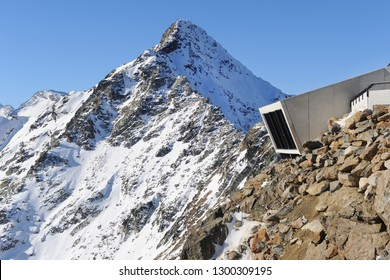 Peak of the Gaislachkogl Mountain in Solden, Austria
