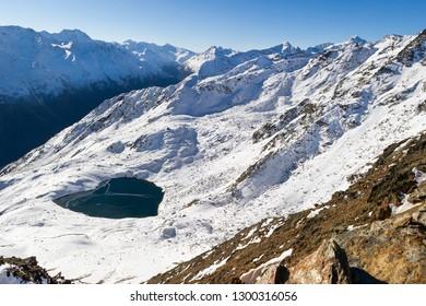 Peak of the Gaislachkogl Mountain in Solden, Austria