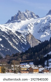 Peak of Gross Spannort of the Uri Alps seen from Engelberg, Canton Oberwalden, Switzerland