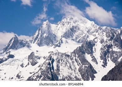 Peak of Jade Dragon snow mountain Lijiang city, Yunnan province  China
