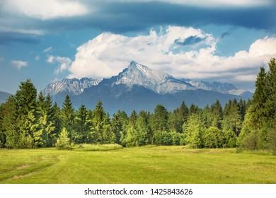 Peak Krivan (2494m),symbol of Slovakia in High Tatras mountains, Slovakia