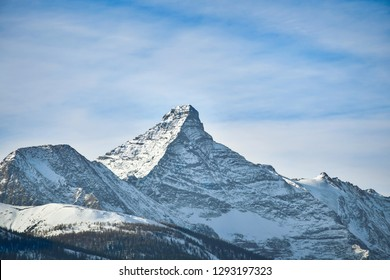 The Peak of Mount Nelson in Winter, near Invermere, British Columbia. Canada